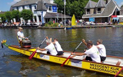 De Kromme Aar wint de drakenbootrace 2017 in Woubrugge